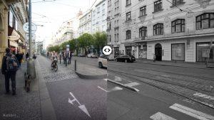 Srovnání před a po. Vizualizace IPR Praha