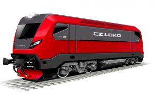 Vizualizace nové lokomotivy EffiLiner 2000. Foto: CZ LOKO