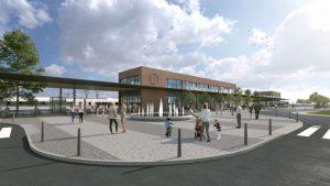 Vizualizace budoucí podoby přednádražního prostoru Jihlava-střed. Pramen: Město Jihlava