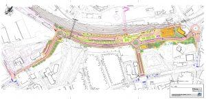 Dopravní terminál Jihlava, mapa z původní dokumentace. Pramen: dokumentace EIA