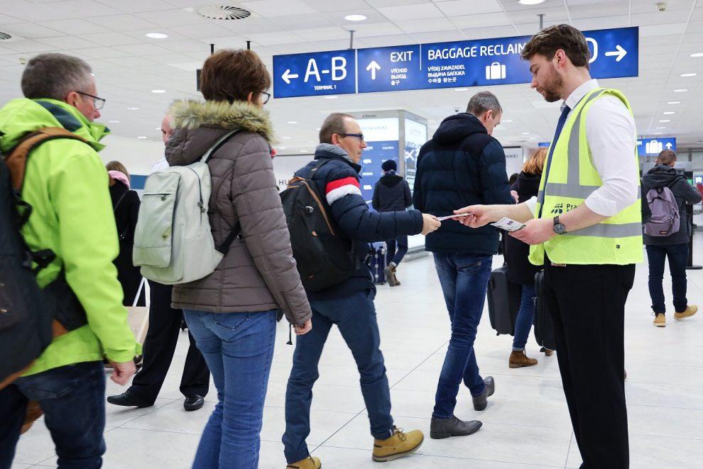 Informování cestujících na pražském letišti. Pramen: Letiště Praha