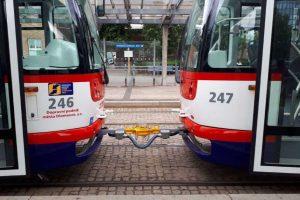 Tramvaje v Olomouci. Pramen: DPMO