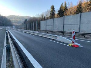 Omezení provozu na silnici I/35 u Rádelského mlýna. Foto: Liberecký kraj