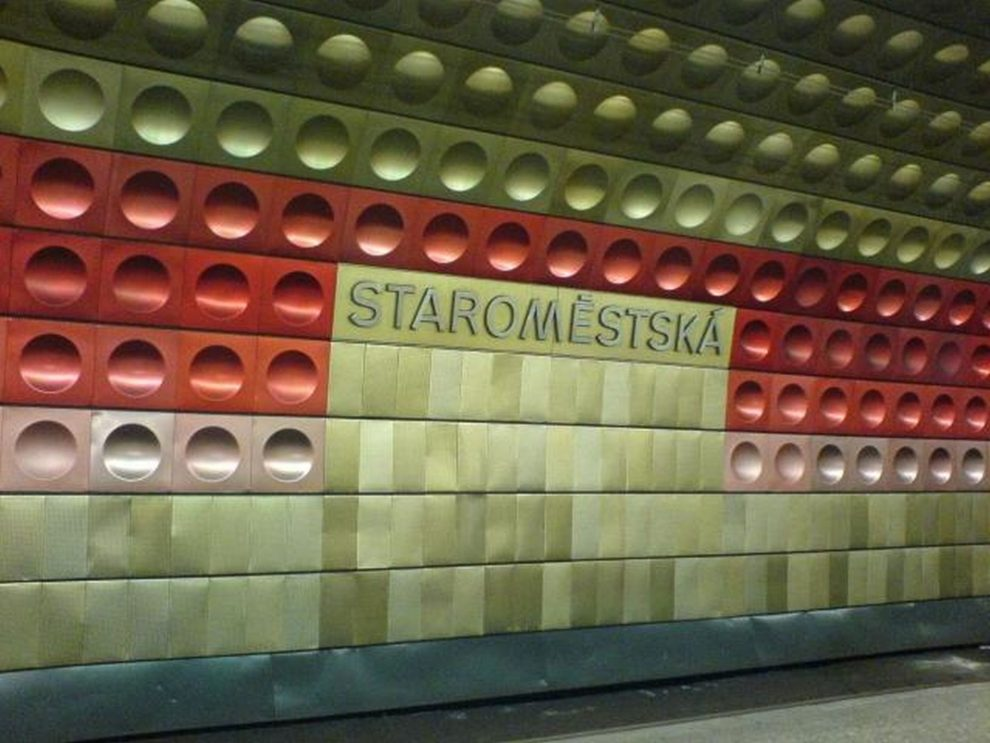 Stanice metra Staroměstská. Foto: Limojoe / Wikimedia Commons