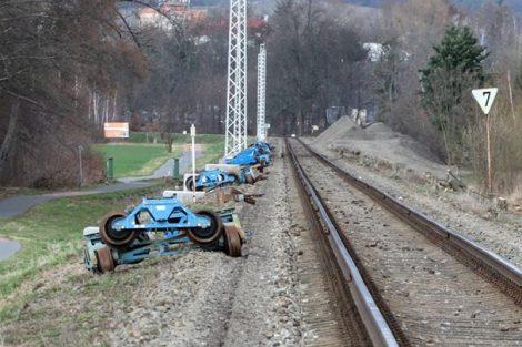 Koleje čekající na vytrhání. Pramen: Správa železnic