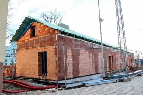 Nová technologická budova v Uničově. Pramen: Správa železnic