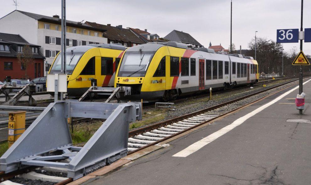 Jednotky Alstom Coradia Lint v barvách HLB. Foto: High Contrast / Wikimedia Commons