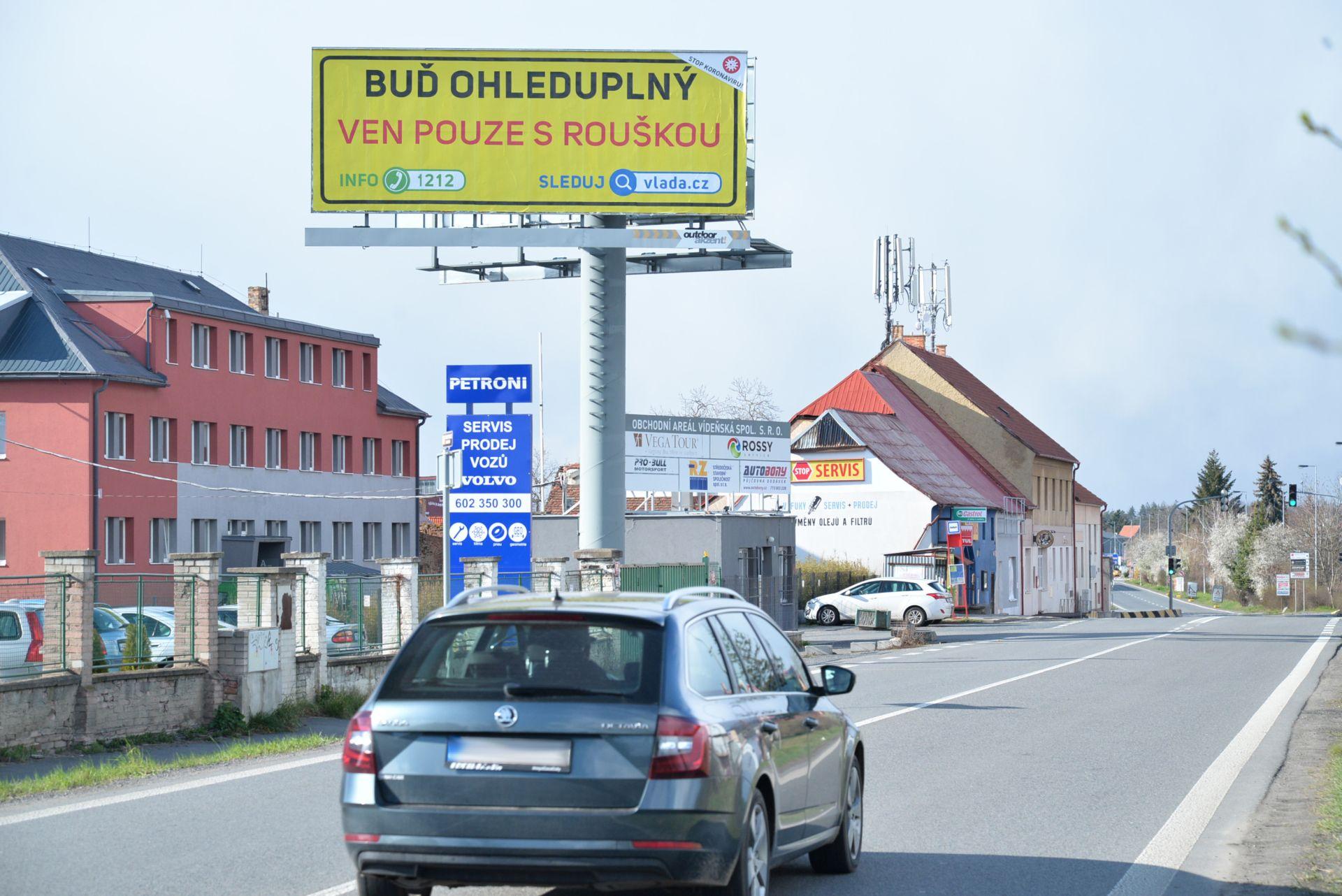 Informační kampaň na venkovních nosičích reklamy BigBoardu. Foto: BigBoard
