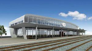 Návrh na novou budovu nádraží v Mladé Boleslavi z roku 2009