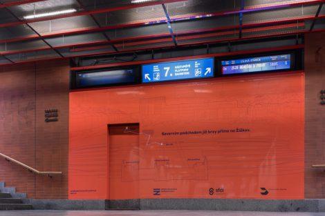 Propagace nového podchodu na hlavním nádraží. Pramen: Správa železnic