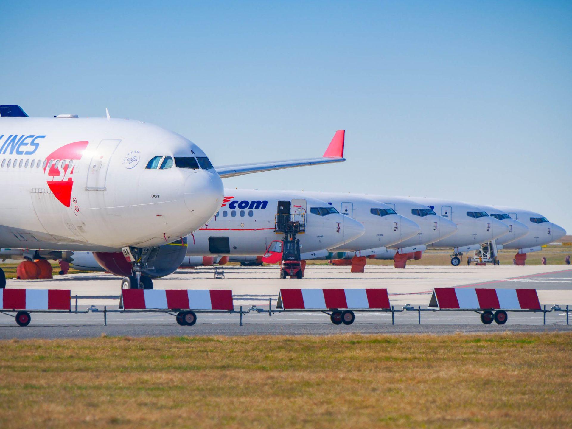 Airbus A330-300 registrace OK-YBA Českých aerolinií je odstaven od února po zastavení dálkových letů do Soulu. Foto: Rosťa Kopecký / FlyRosta.com