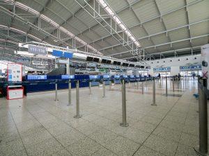 Terminál 1 by byl i bez pandemie koronaviru prázdnější kvůli rekonstrukci třídírny zavazadel. Foto: Rosťa Kopecký / Flyrosta.com