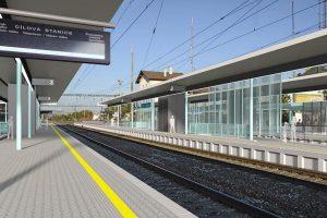 Vizualizace stanice Praha - Radotín po rekonstrukci. Foto: Správa železnic