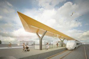 Vizualizace nástupiště ve stanici Semily. Foto: Správa železnic