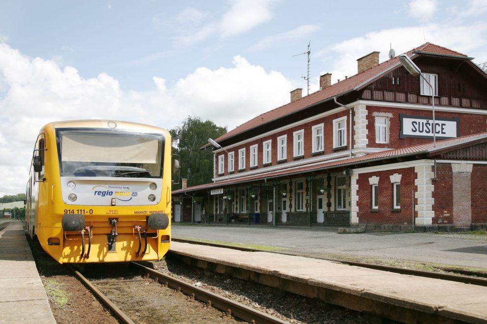 Regionova ve stanici Sušice. Foto: České dráhy