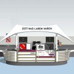 Budoucí vzhled přístaviště Ústí nad Labem-Vaňov. Pramen: ŘVC