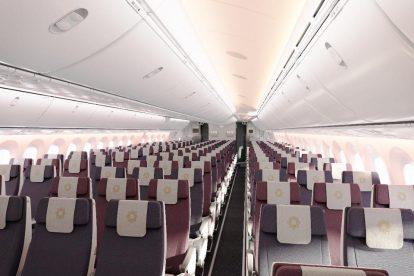 Ekonomická třída Boeingu 787-9 společnosti Vistara. Foto: Vistara
