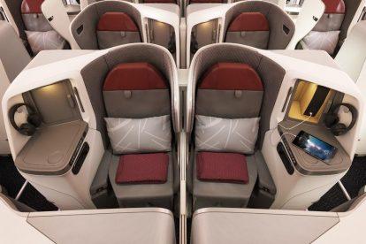 Byznys třída v Boeingu 787-9 společnosti Vistara. Foto: Vistara