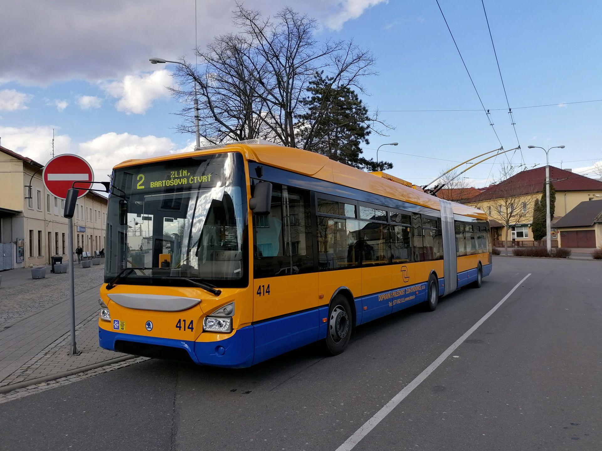 Trolejbus Škoda 35Tr ve Zlíně. Foto: DSZO