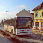 Autobus Iveco Crossway ČSAD Hodonín v Pohořelicích. Foto: Kordis JMK