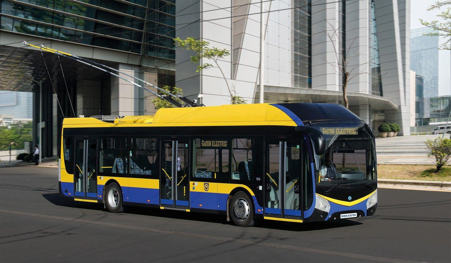Trolejbus Škoda 32Tr pro Teplice. Pramen: Škoda Electric