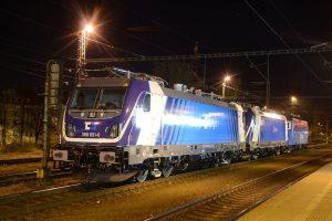 Lokomotivy Bombardier TRAXX MS3 při přepravě do Velimi. Foto: ČD Cargo