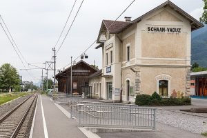 Nádraží Schaan-Vaduz v Lichtenštejnsku. Foto: JoachimKohlerBremen / Wikimedia CommonsJoachimKohlerBremen