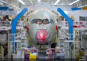 Výroba A350 v Toulouse. Foto: Airbus