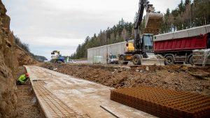 Modernizace D1 mezi Humpolcem a Větrným Jeníkovem. Foto: Skanska