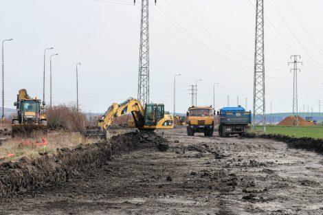 Nová stopa tratě Šakvice - Hustopeče. Pramen: Správa železnic