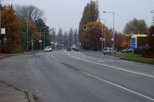Silnice I/67, Karviná. Autor: ŠJů, Wikimedia Commons, CC BY-SA 3.0, https://commons.wikimedia.org/w/index.php?curid=17446472
