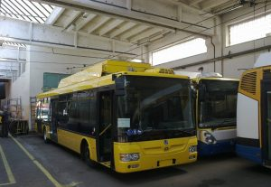 Trolejbus Škoda 30Tr, Mariánské Lázně. Pramen: FB Martina Kaliny
