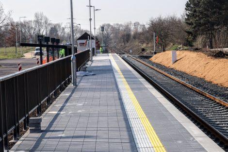 Nová zastávka Neratovice sídliště. Pramen: Správa železnic