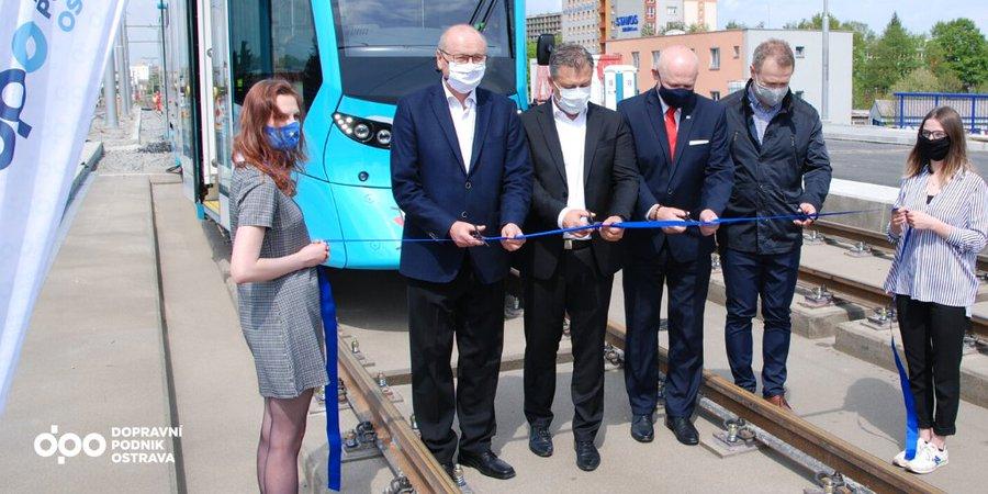 Na Výškovické mosty v Ostravě se vrací neomezený tramvajový provoz. Pramen: DPO
