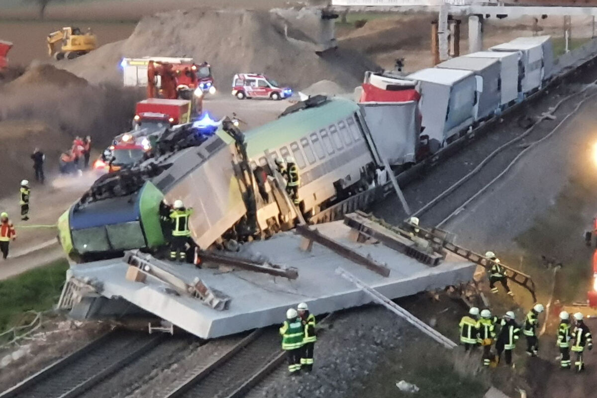 Nehoda vlaku BLS Cargo u města Auggen. Foto: Twitter