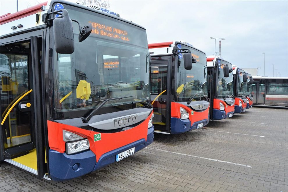 Autobusy Iveco Urbanway v Mladé Boleslavi. Foto: Dopravní podnik Mladá Boleslav