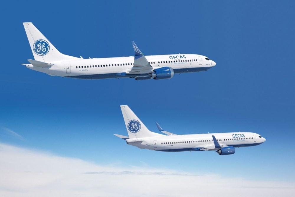 Boeing 737 MAX v barvách GECAS. Foto: Boeing