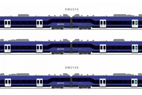 Nové vlaky pro Jihomoravský kraj, varianta 1