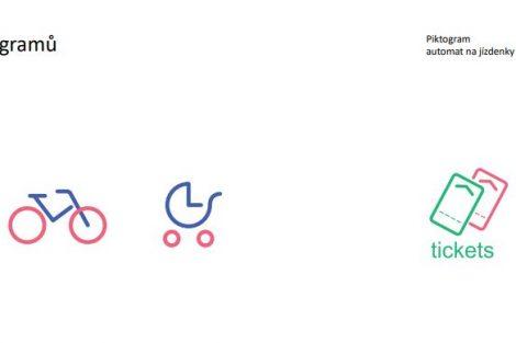 Piktogramy navržené pro vlaky pro Jihomoravský kraj
