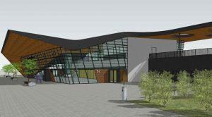 Vizualizace nové výpravní budovy v Brně-Králově Poli. Foto: Správa železnic