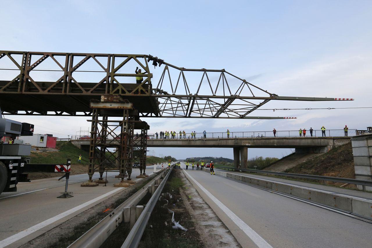 Mostní provizorium na D1. Pramen: Metrostav a.s.
