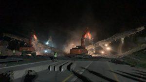 Demolice mostu na D1. Pramen: MDČR
