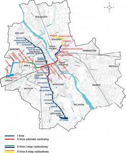 Plán tras metra ve Varšavě