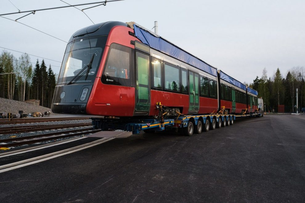 Tramvaj Škoda ForCity Smart Artic pro Tampere. Pramen: Škoda Transportation