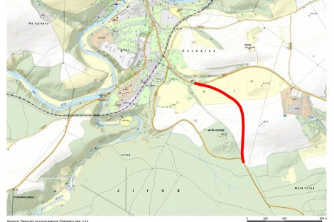Mapa nové přeložky silnice II/230 u Stříbra. Foto: SÚS PK