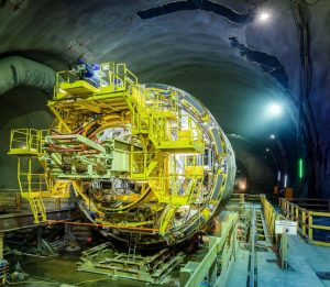 Stavba úpatního tunelu Semmering. Pramen: ÖBB/Ebner