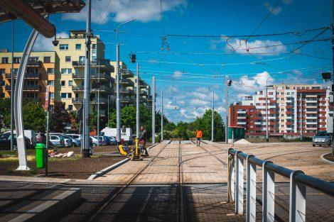 Smyčka na Barrandově a začátek nové tratě do Holyně. Pramen: ROPID