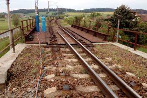 Výměna mostu na trati Plzeň - Klatovy v obci Dehtín. Pramen: Správa železnic
