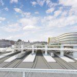 Zastřešení kolejiště Masarykova nádraží, vizualizace. Pramen: Správa železnic