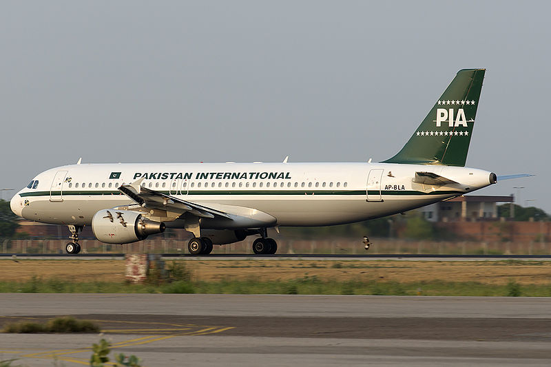 Airbus A320 společnosti Pakistan International Airlines. Foto: Asuspine / Wikimedia Commons